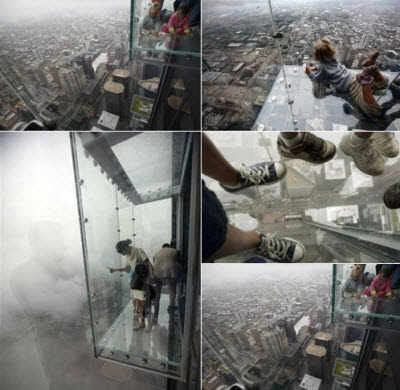 Increibles balcones de vidrio en las Sears Tower's