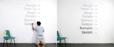 Dibujando letras con birómes