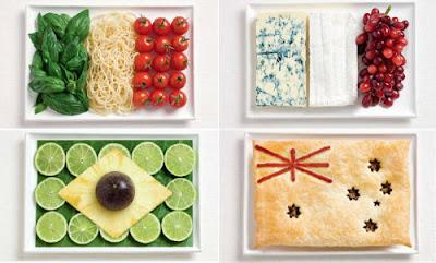 Banderas Nacionales Hechas de Comida
