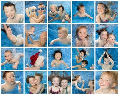 Fotografías profesionales de bebes bajo el agua