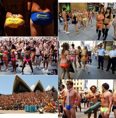 Todos en bikini y en tanga!