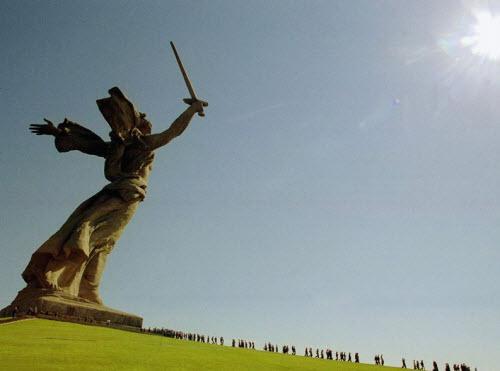 Monumento a la madre patria en Rusia