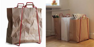 Porta bolsas para bolsas reciclables