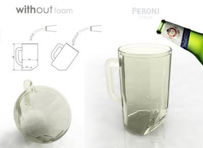 Vaso de cerveza para servir con o sin espuma