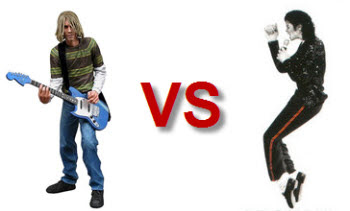 Kurt Cobain Vs Michael Jackson