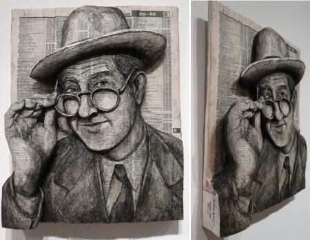 Alex Queral: Arte con guías telefónicas