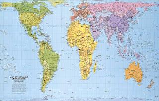 El mapa del mundo bien proporcionado