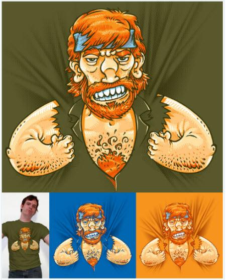 Tú no puedes llevar la camiseta de Chuck Norris; es la camiseta de Chuck Norris quien te lleva a ti