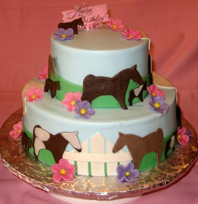 A Garden of Cakes Horse Birthday Cake