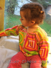 easy sewing toddler fleece tops with appliqué nursery rhymes