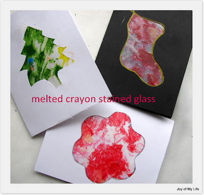 kids art melted crayon stained glass art project