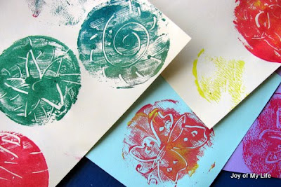 kids art simple print making