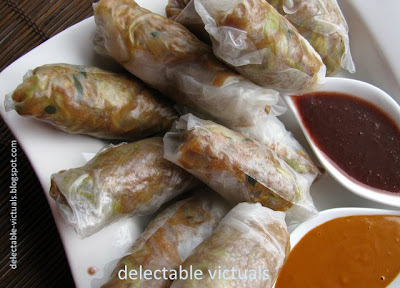 easy recipe Fresh Spring Rolls with Rutabaga, Turnip, Zucchini filling