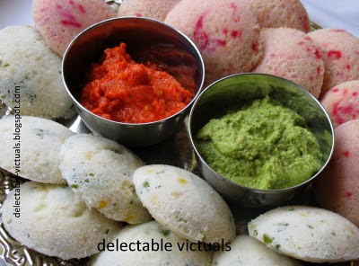 Quick Vegetable Idlees idli recipe south indian breakfast