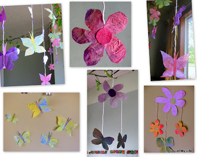 Easy Kids Crafts, Paper Chain Faeries, Flowers, Butterflies