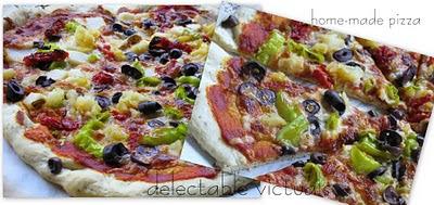easy recipe home-made pizza vegetarian