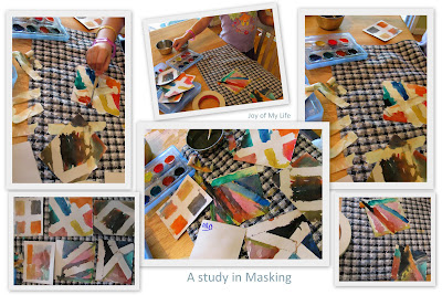 masking tape watercolor technique masking kids art