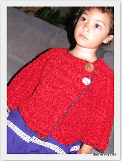 crochet easy girls sweater classy off-center buttons design