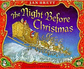 The Night Before Christmas Jan brett Moore book review tenth anniversary edition