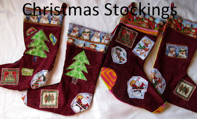 sewing custom christmas stockings