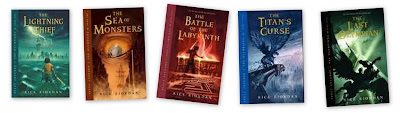 rick riordan percy jackson and the olympians series books