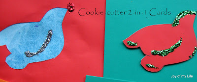 Kids Crafts: Holiday Cookie-cutter Cards