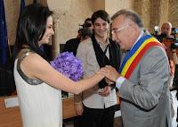 Adelina Elisei si Cristi Chivu s-au casatorit