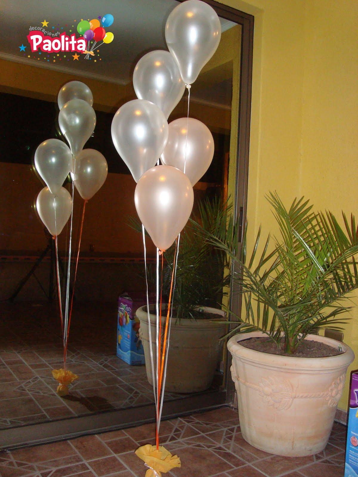 Decoracion con ramilletes de globos helio pictures - Decoracion de globos ...