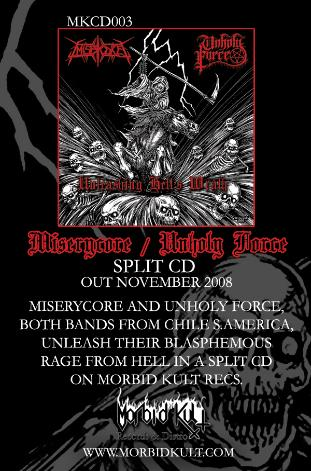 Mserycore/ unholy force Split  Cd 2009!!!