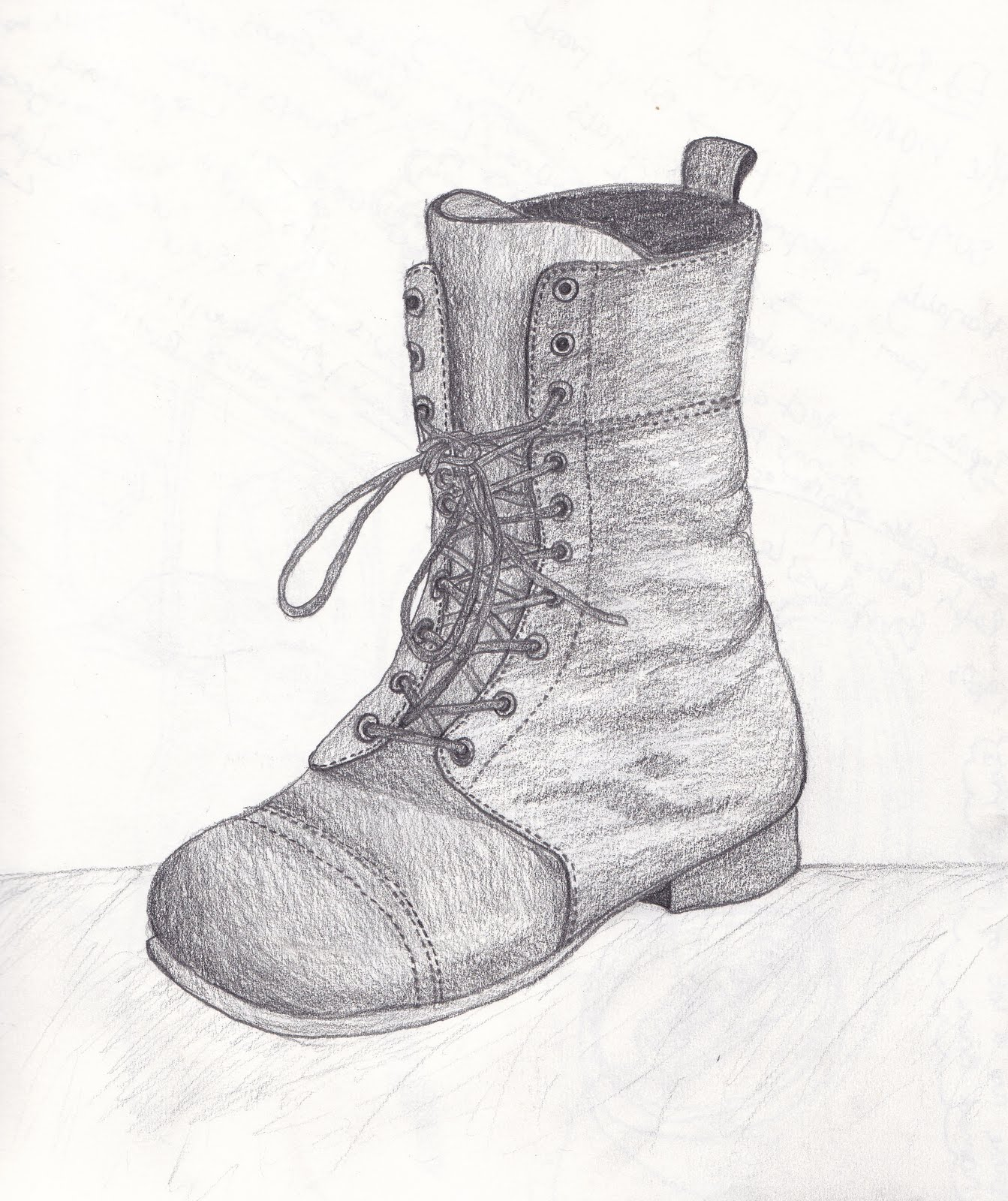 How To Draw Old Boot