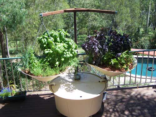 Art and interior small spaces balcony garden for Balcony aquaponics