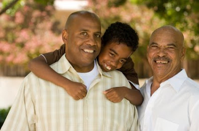 NAMC montessori classroom family activities father's day three generations of men