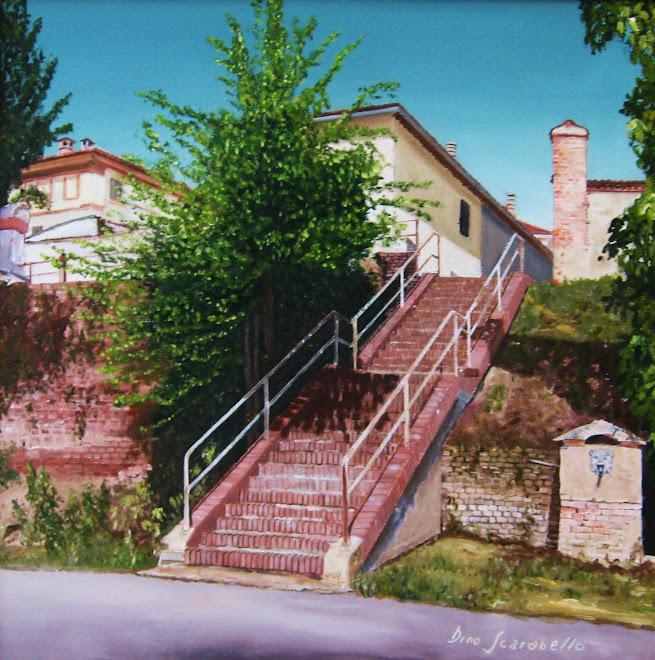La scaletta dei bastioni di Bosco Marengo