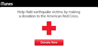 iTunes, Haiti, donation, Red Cross