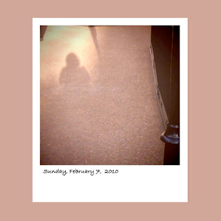 my shadow at the Opryland Resort Nashville iPhone polaroid