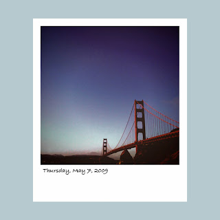 iPhone polaroid, Golden Gate Bridge, San Francisco