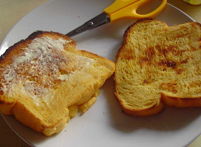... portion in the freezer and we had toast bread for our tea break, YUM