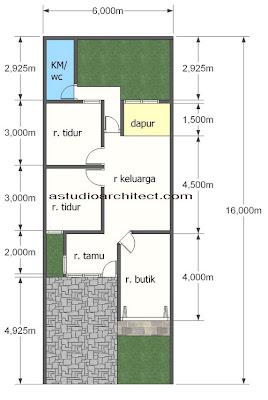 Bentuk Desain Rumah on Desain Rumah Gratis  Rumah Dengan Tempat Usaha Didepan Dengan Lahan 6