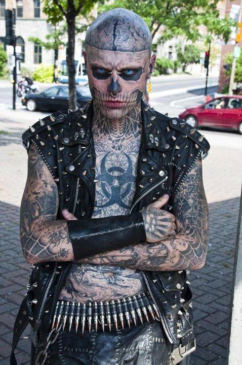 Tatuajes Cuerpo Entero mutante cósmico - punksunidos fanzine: rick genest the zombie boy