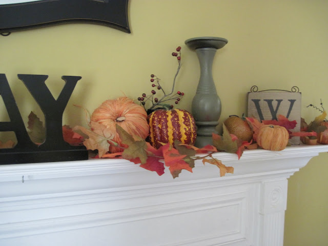 Fall Mantel 2010