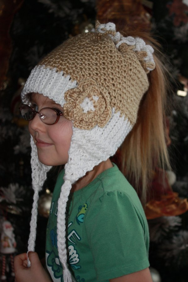 Crochet Ponytail : Simple Pleasures: Snow Bunny Crochet Ponytail Hat