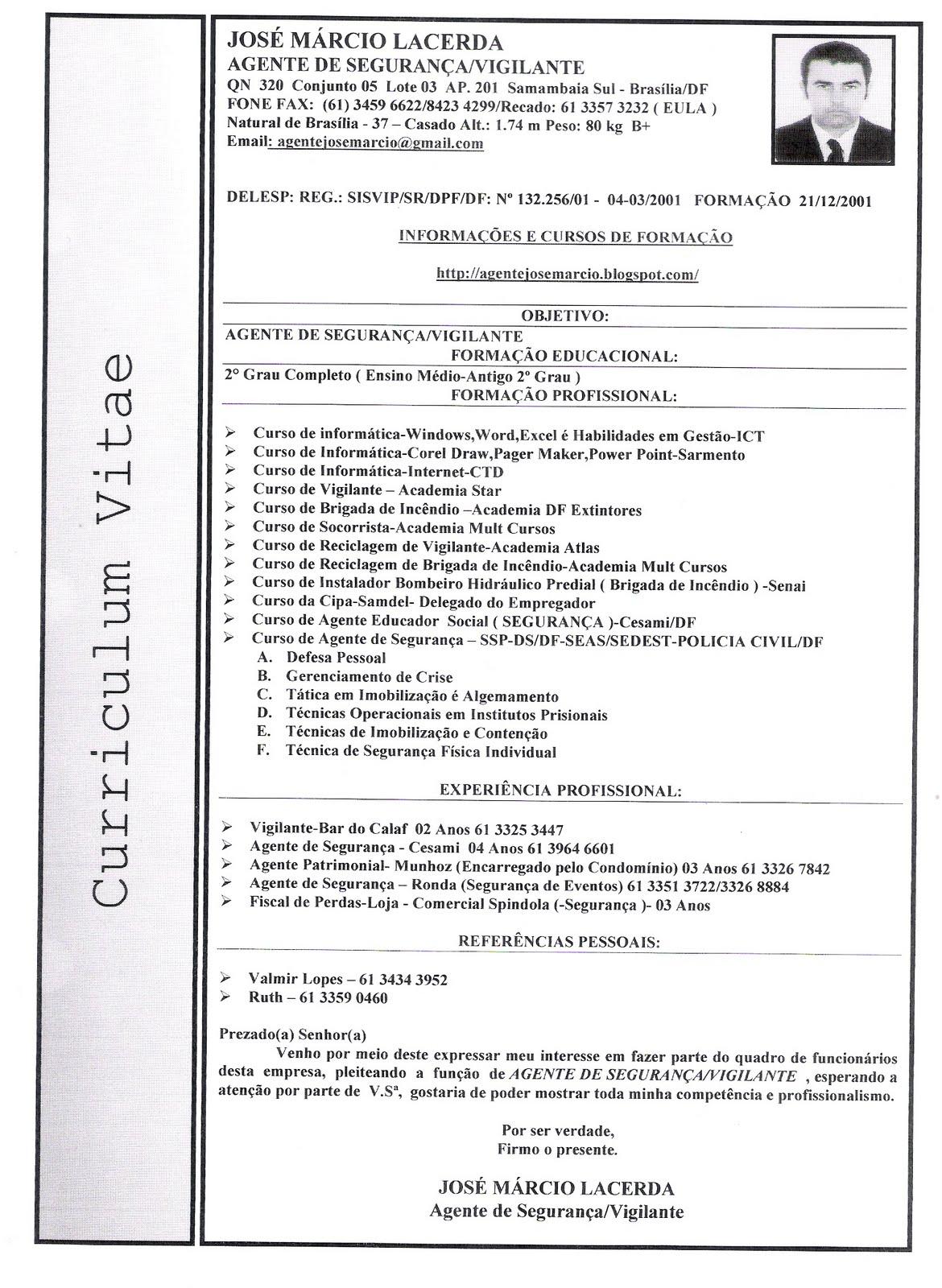 Curriculum Vitae Modelo Brasileiro Download