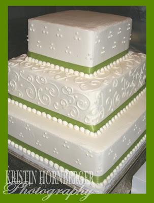 square wedding cake images