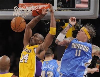 lebron james dunking on kobe bryant. lebron james dunk over kobe.
