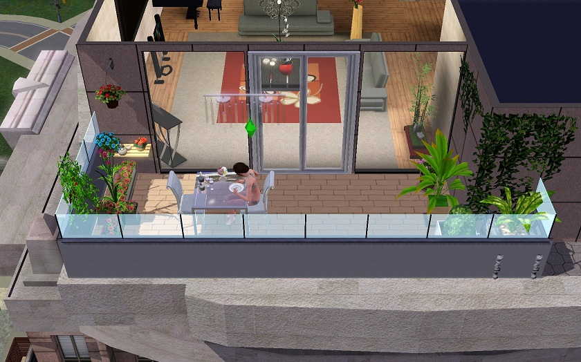 Sims 3 late night melodies of life for Sims 4 balcony