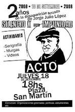 2 años de la desaparición forzada de Julio López