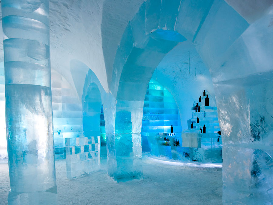 travel and vacation abodes the famous ice hotel of sweden. Black Bedroom Furniture Sets. Home Design Ideas
