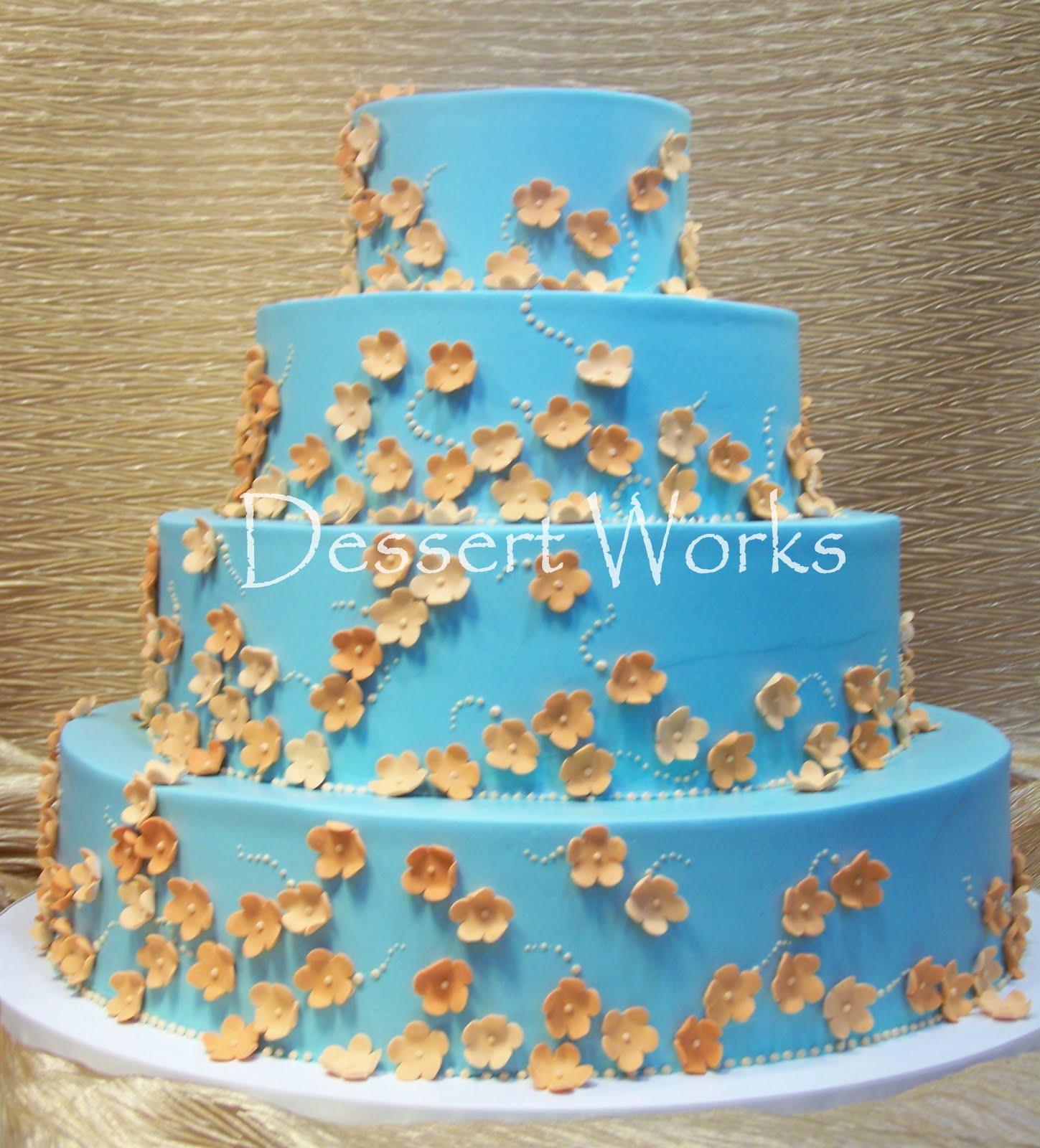 Dessert Works Bakery: Blue & Orange