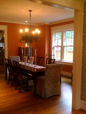 Orange paint colors image search results for Orange dining room