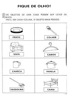 ATIVIDADE FIQUE DE OLHO! para crianças